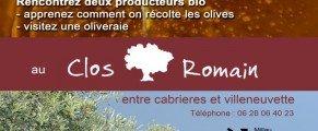 Dimanche 12 aout, soirée de l'olive au Clos romain !