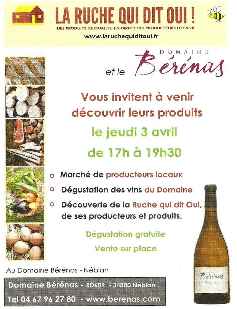 Flyer dégustation du 3 avril